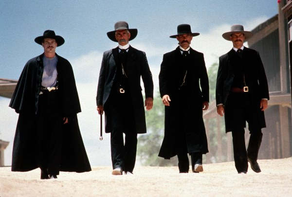 Kurt Russell, Val Kilmer, Sam Elliott, and Bill Paxton in Tombstone