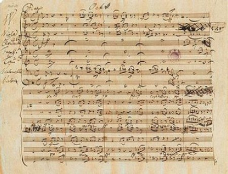 Mozarts 9 Symphonies Manuscript