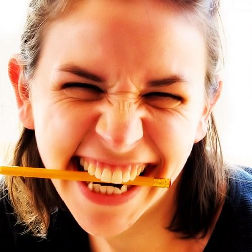 bijt op potlood