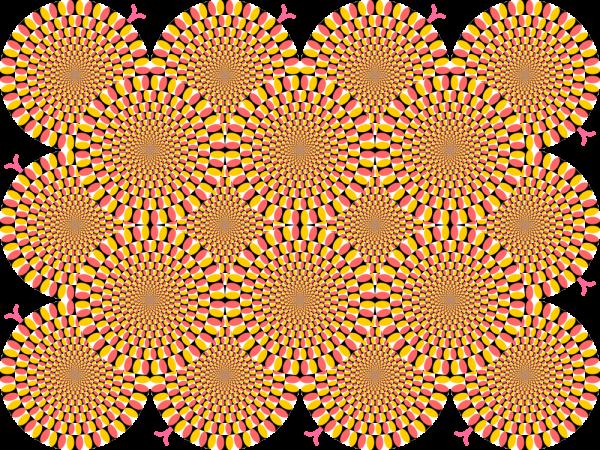 draaiende slangen illusie