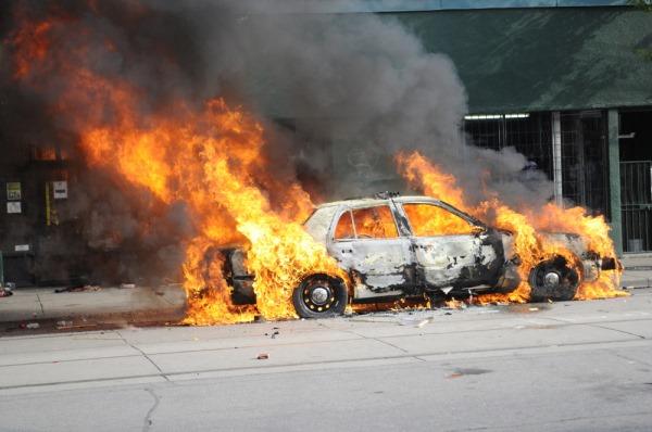 exploderende auto
