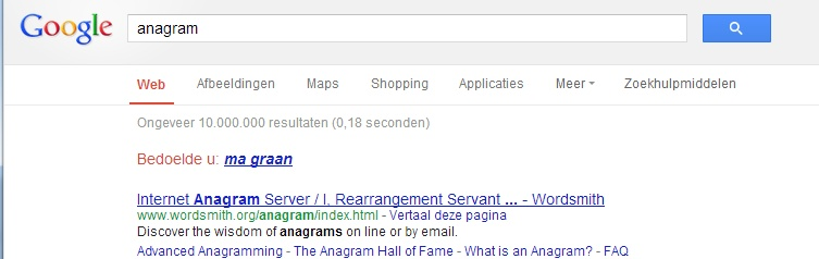 google anagram