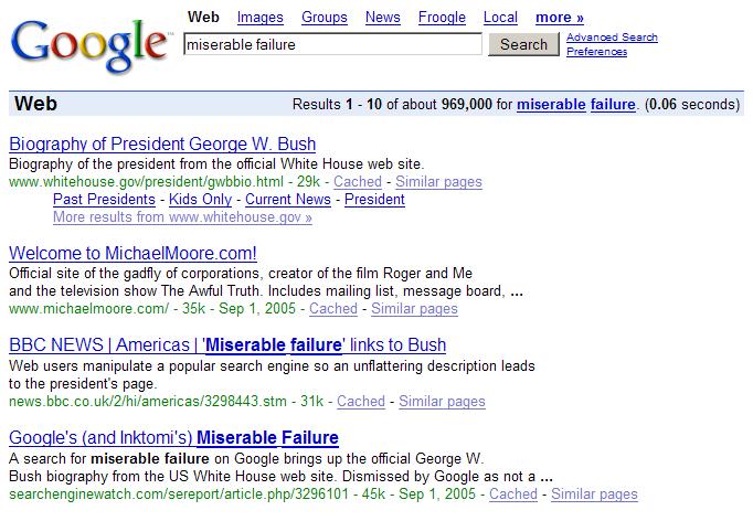 google bom bush