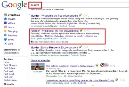 google murder